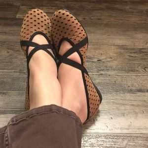 Sesto Meucci perforated leather flats